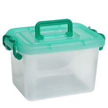 Factory supply high quality clear kids toy storage box with handle