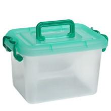 Fornecimento de fábrica de alta qualidade claro crianças brinquedo caixa de armazenamento com alça