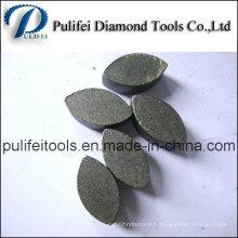 Segment abrasif de meulage de pierre de plancher de Terrazzo pour le meulage concret