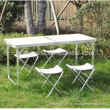 Tragbare Klappstudie Tisch und Stuhl im Freien Tischset Klapptisch und Stühle