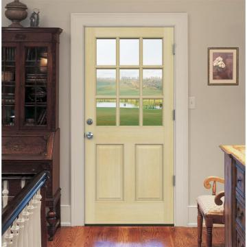 Hemlock Prehung Front Wood Glass Door