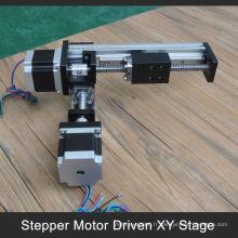 accepter paypal 100 à 1000mm course xy table motorisée pour bras de robot industriel
