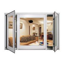 European standards thermal break double laminated glazed swing opening casement window hopo aluminum window