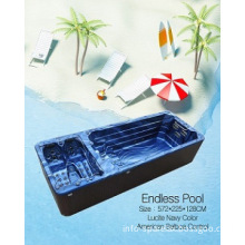 2014 Europe luxury TV outdoor fibreglass swim spa jacuzzi funct