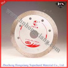 Lame de diamant de 360 mm continu pour pierre dure