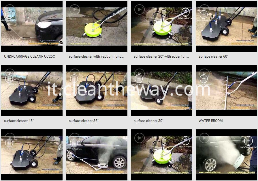 "Surface cleaner video, Pressure Washer 4000 PSI 16"" 4 Nozzle Water Broom"