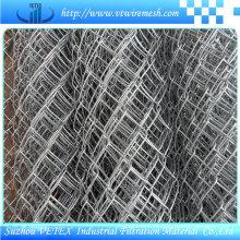 Chain Link Mesh in der Straße verwendet