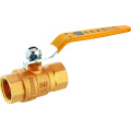 Nam Female đòn bẩy Nickle Plated Brass Gas Ball Valve