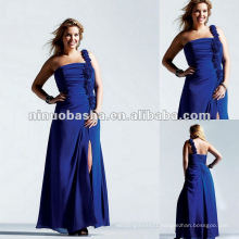 One Shoulder Ruched Chiffon Strapless Beaded Taffeta Evening Dress 2012