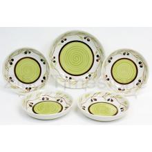 Ceramic Hand Painted Pasta Bowl Set (TM7515)