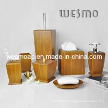 Высококачественный карбонизированный бамбуковый набор для ванны (WBB0623A)