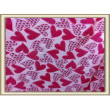 Tejido de pijama de lana de coral 3D 100% poliéster