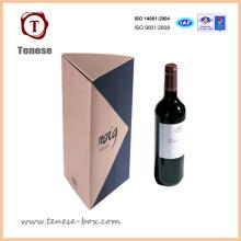 Boîte d'emballage pour vin en papier avec couvercle