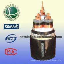 Conductor del cobre de la GRUPA del estado Cable PVC envuelto medio del voltaje xlpe