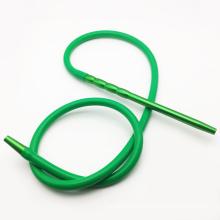 Mangueira de narguilé Shisha de Silicone verde 2m com bucal de metal (ES-HH-016-2)