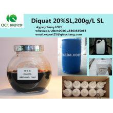 Produit phytosanitaire / weedicides sélectifs 20% SL 200g / L SL Diquat, cas: 85-00-7 -lq