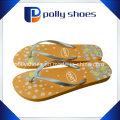 Flip Flop Women′s Floral Sandals Floral Gold Print Size 36
