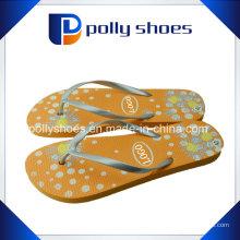 Flip Flop Женские цветочные сандалии Цветочное золото Размер печати 36