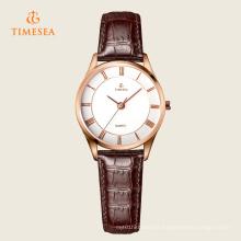 Montre-bracelet à quartz en acier inoxydable de la mode des femmes 71115