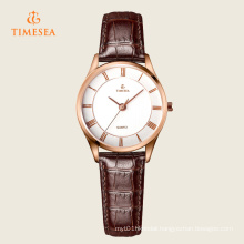 Women′s Fashion Leather Stainless Steel Quartz Wrist Watch 71115