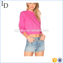 Cropped top casual hoodies women OEM apparel sweatshirt for women Casual Hoodies Women