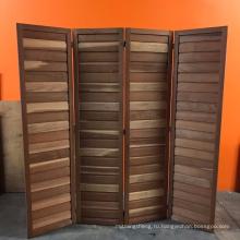 FOUR PANEL CEDAR ROOM DIVIDER Free Standing Folding Natural Wood Panels