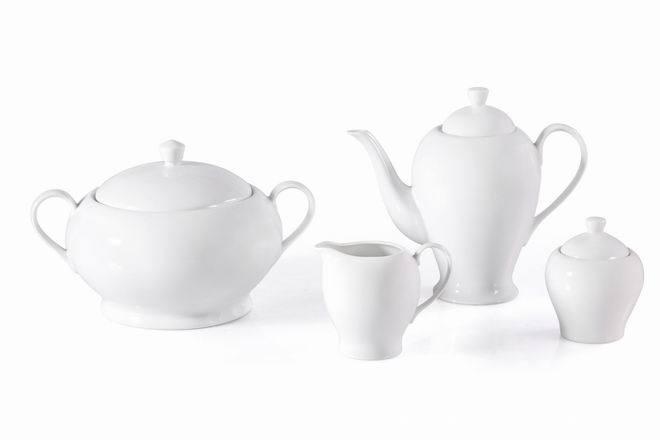 Round Hotel Dinnerware(Tureen,Tea Pot,Creamer&Sugar Pot)