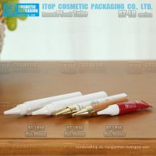 cola de pequeño tamaño 16mm y 19mm de diámetro sellada o sin sellar el tubo de maquillaje más flexible de embalaje
