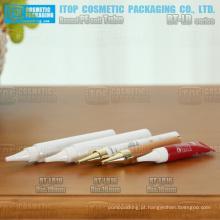cauda de diâmetro de 16mm e 19mm de tamanho pequeno selado ou sem lacre o tubo de maquiagem de embalagem mais flexível