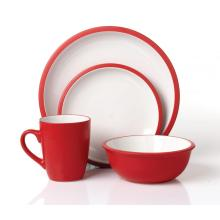 16pcs conjunto de cena de cerámica ronda juego de mesa de regalo al por mayor