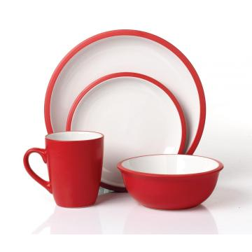 16pcs round ceramic dinner set tableware giftware set wholesale