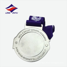 Silver plated shiny star souvenir gift medal