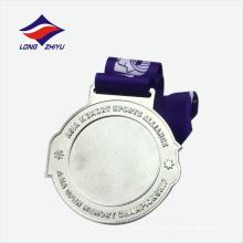Medalha de presente de lembrança de estrelas brilhantes e prata chapeada