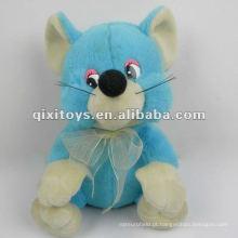bonito urso de brinquedo azul recheado e pulsh