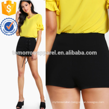 Grommet Lace Up Skort Manufacture Wholesale Fashion Women Apparel (TA3013B)
