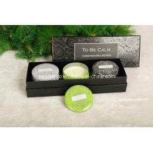 Три штук комплект подарка свечки в роскошных УФ коробке