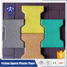 15MM Pedestrian Bridges Rubber Floor Rubber Tile