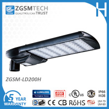 200W LED Parking Lot Lamps with Meanwell Hlg Driver