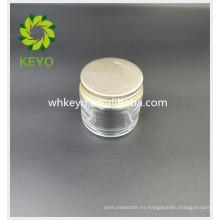 Envase de cristal cosmético vacío vacío coloreado transparente de empaquetado cosmético de la venta 70g