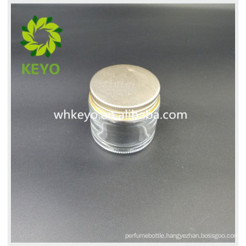 70g Hot sale cosmetic packaging transparent colored empty cosmetic glass jar