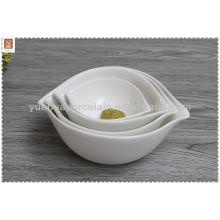 Cuenco de ensalada de cerámica con logotipo personalizado