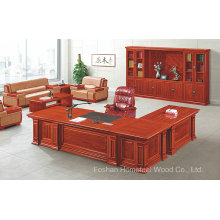 Antique Design Solid Wood Office Executive Director Desk Furniture (HF-YT10A)