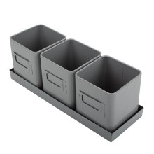 Set 3 tray flower pot metal decorative