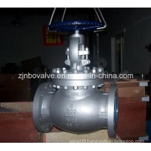 Cast Steel RF Gear Worm Type Globe Valves (150lbs-1500lbs)