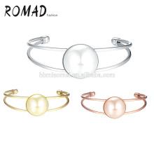 Schmuck Großhandel gleitende Kristalle Manschette Gold Frauen Armband