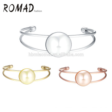 Bijoux en gros coulissant cristaux brassard or femmes bracelet
