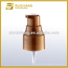 Pompe à lotion en plastique / pompe à crème 24 mm / distributeur de pompe à revêtement UV avec AS overcap