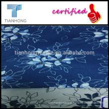 Flor única personalizada impressão em tecido de algodão Dobby Weave para senhora vestido/algodão Dobby tecido/Rose impresso tecido Jacquard