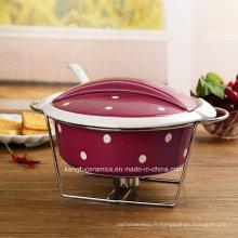 Ustensiles de cuisson en céramique de conception moderne en grès (ensemble)