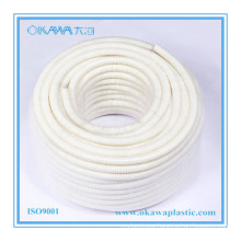 Flame Retardant PVC White Corrugated Plastic Hose for Cable Protector